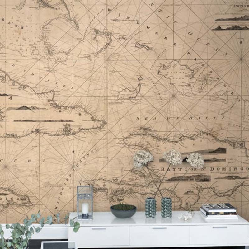 Mural Maps - Navigation Lines Rebel Walls